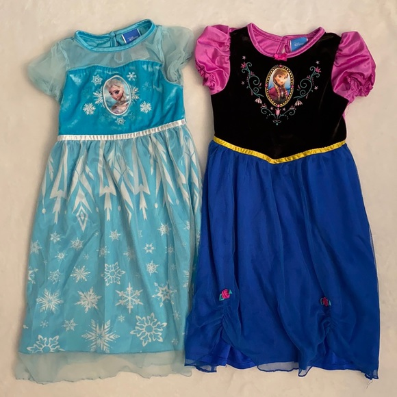 Disney Frozen Elsa & Anna Nightgown {Lot of 2}